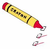Red crayon — Stock Vector