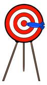 Red and white bullseye — Stock Vector
