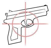 Illustration of gun — Stock Vector