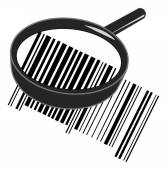 Black magnifying glass — Stock Vector