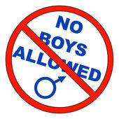No boys allowed — Stock Vector