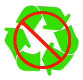 No recycling available — Stock Vector