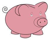 Pink piggy bank — Stock Vector