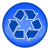 Blue recycling symbol — Stock Vector