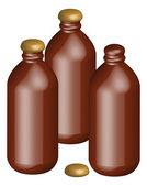 Stubby beer bottles — Stock Vector