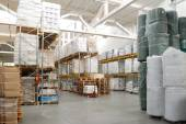 Warehouse with rolls — Stock Photo
