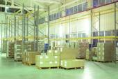Warehouse with boxes — Stock Photo