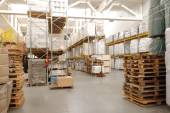 Warehouse with pallets — Photo