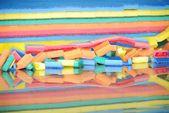Production foam sponges  — Stock Photo