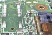Pins and wires on microcontroller — Stock Photo