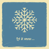 Let it snow — Stock Vector