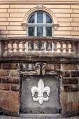 The wall of a historical building in Lviv — Stock Photo