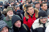 Moscow, Russia - December 10, 2011. Anti-government opposition rally on Bolotnaya Square in Moscow — Stock Photo