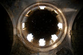 Stars transmitted through the hole in the dome of the church — Stok fotoğraf