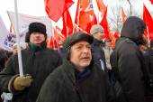 Moscow, Russia - February 4, 2012. Anti-government opposition ra — Stock Photo