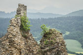 Ruins of ancient medieval fortress in Slovakia — ストック写真