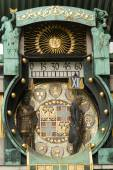 Famous historical figures clock in Vienna, Austria — Stock Photo