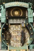 Famous historical figures clock in Vienna, Austria — Stock fotografie