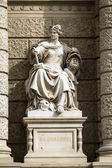 Stone sculpture of a woman in the the center of Vienna, Austria — ストック写真