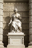 Stone sculpture of a woman in the the center of Vienna, Austria — Stock Photo