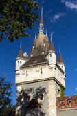 Vajdahunyad Castle is a castle in the City Park of Budapest, Hun — Stock Photo