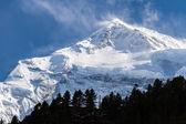 White high snowy mountains of Nepal, Annapurna region — Stock Photo