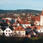 Panorama of Cesky Krumlov on a sunny day — Stock Photo #67524013