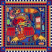Seamless aztec pattern — Stock Vector