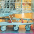 Shopping carts on a parking lot. — Stock Photo #75123933