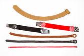 Many Belt on white background. — Stock Photo