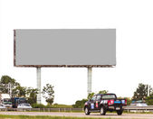 Blank billboard ready for new advertisement background. — Stock Photo