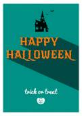 Happy halloween retro affisch — Stockvektor