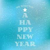 Happy New Year typography — Stock Vector