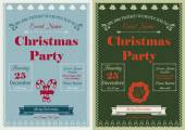 Vintage Christmas Party Invitation — Stock Vector