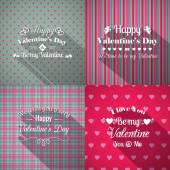 Valentines Day greeting cards set — Stok Vektör