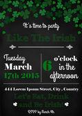 Saint Patricks Day ivitation card — Stok Vektör