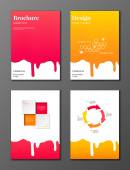 Flowing syrup brochures set — Stock Vector
