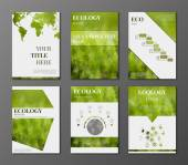 Eco Brochures set — Stock Vector