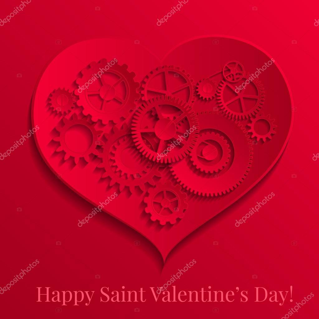Поздравление открытка сердечко