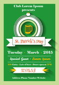 Patrick's Day flyer — Stock Vector