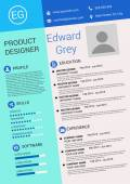 Resume design template — Stock Vector