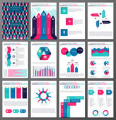 Infographic brochure and flyer design templates set — Stock Vector