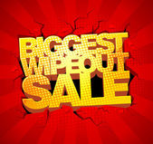 Biggest wipeout sale — Stock Vector