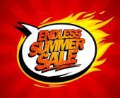 Endless summer sale pop-art design. — Stock Vector