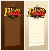 Pizza and grill menus. — Stock Vector