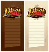 Pizza and grill menus. — Stok Vektör