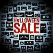 Halloween sale design with paper bags. — Stock Vector #53555489