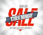 Cyber monday sale design. — Stock Vector