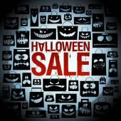 Halloween sale design with paper bags. — Stock Vector