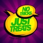 No tricks just treats design. — Stock Vector #54580459